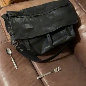 Jas-M.B. Large Leather Messenger Bag